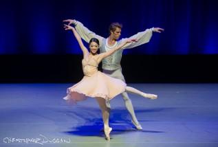 Misa Kuranaga and James Whiteside in Tchaikovsky Pas de Deux at Dance Against Cancer at AXA Equitable Theater in NYC
