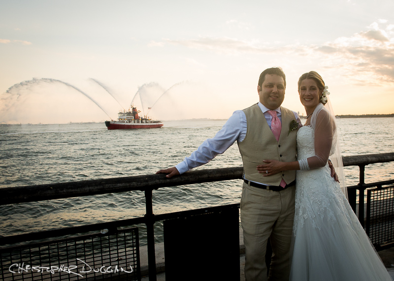 Caroline & Ryan's Battery Gardens Wedding in NYC