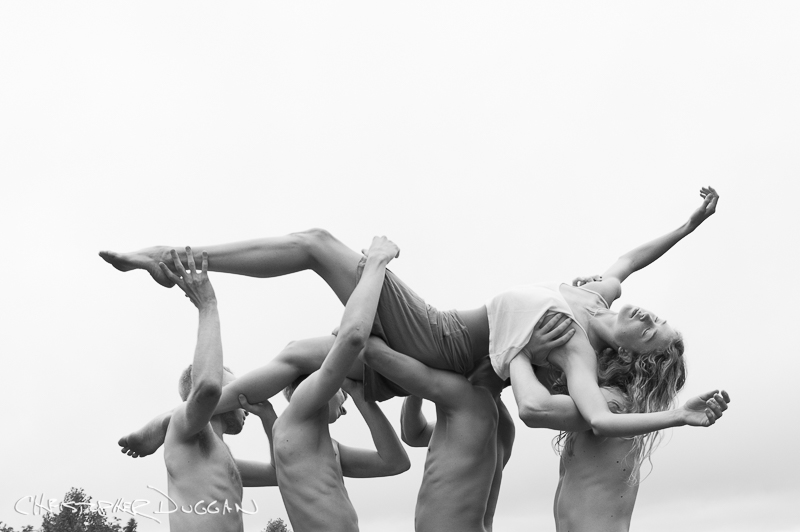 Alice Godfrey and NDT2 dancers by Christopher Duggan