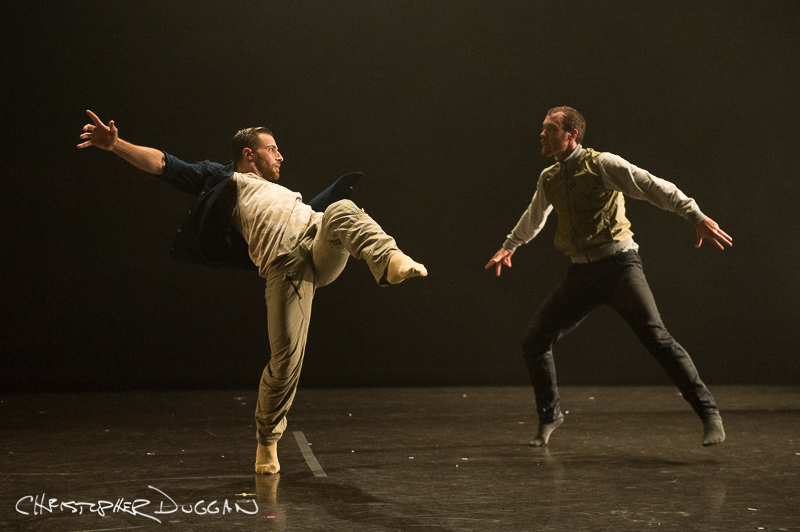 "Joseph Kudra and Andrew Wojtal of BODYTRAFFIC in ""Once again, before you go""; photo Christopher Duggan"