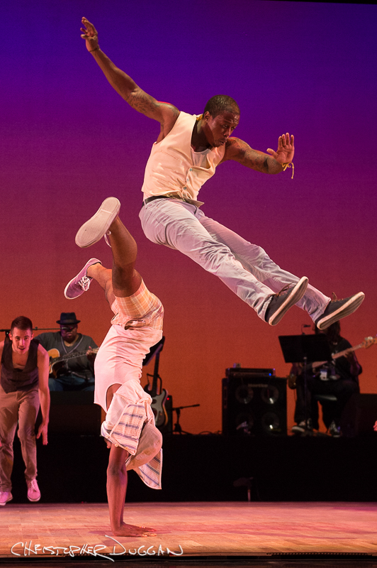 "Byron Tittle and Christopher Broughton of Dorrance Dance in ""The Blues Project""; photo Christopher Duggan"